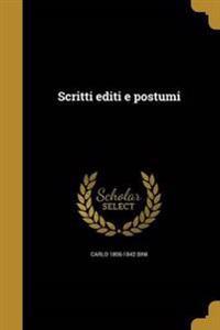 ITA-SCRITTI EDITI E POSTUMI