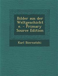 Bilder aus der Weltgeschichte.