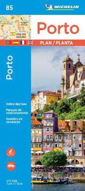 Porto Michelin City Plan 85 Maantiede Matkailu Kartta
