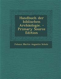Handbuch der biblischen Archäologie.