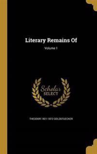 LITERARY REMAINS OF V01