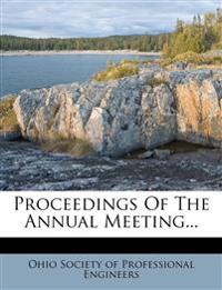 Proceedings Of The Annual Meeting...