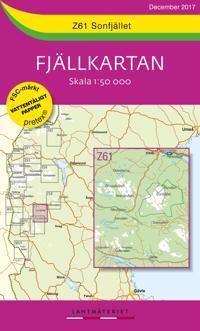 Z61 Sonfjället Fjällkartan : Skala 1:50 000