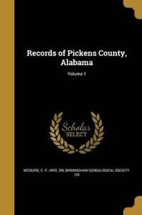 RECORDS OF PICKENS COUNTY ALAB