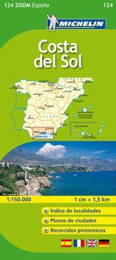 Costa del Sol Michelin 124 delkarta Spanien : 1:200000