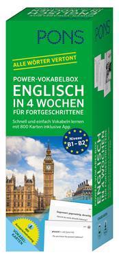 PONS Power-Vokabelbox Englisch in 4 Wochen für Fortgeschrittene