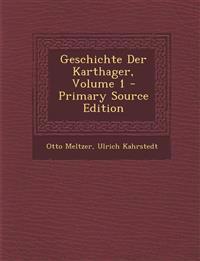 Geschichte Der Karthager, Volume 1