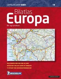 Bilatlas Europa; bil- og turistkart