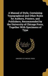 MANUAL OF STYLE CONTAINING TYP