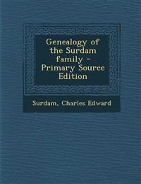 Genealogy of the Surdam family