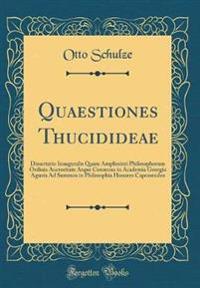 Quaestiones Thucidideae