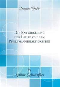 Die Entwickelung der Lehre von den Punktmannigfaltigkeiten (Classic Reprint)