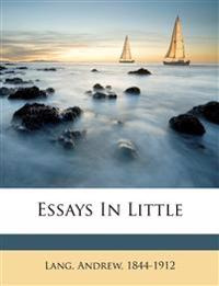 Essays in little