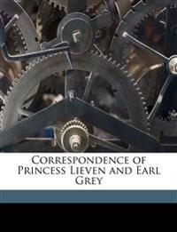 Correspondence of Princess Lieven and Earl Grey