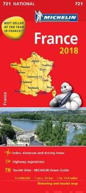 Frankrike 2018 Michelin 721 Karta