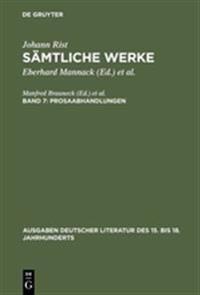 S mtliche Werke, Band 7, Prosaabhandlungen