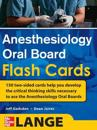 Anesthesiology Oral Board Flash Cards