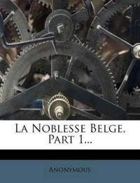 La Noblesse Belge, Part 1...