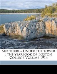 Sub Turri = Under the Tower: The Yearbook of Boston College Volume 1914
