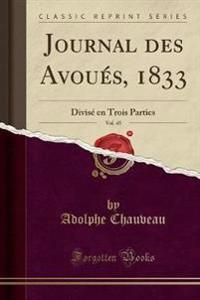 Journal des Avoués, 1833, Vol. 45