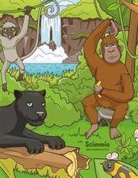 Scimmie Libro Da Colorare 3 & 4