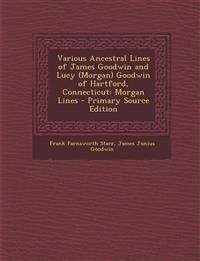 Various Ancestral Lines of James Goodwin and Lucy (Morgan) Goodwin of Hartford, Connecticut: Morgan Lines - Primary Source Edition