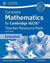 Complete Mathematics for Cambridge Igcserg Teacher Resource + Cd Extended