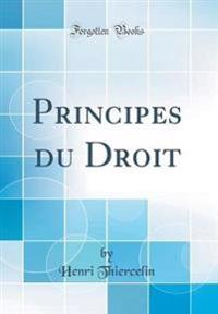 Principes Du Droit (Classic Reprint)