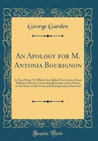 An Apology for M. Antonia Bourignon