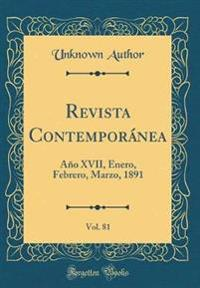 Revista Contempor nea, Vol. 81