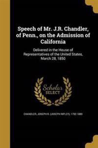 SPEECH OF MR JR CHANDLER OF PE