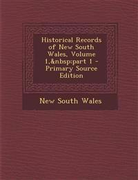 Historical Records of New South Wales, Volume 1, part 1