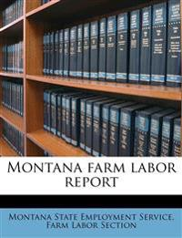 Montana farm labor report