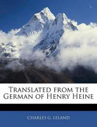 Translated from the German of Henry Heine