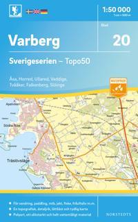 20 Varberg Sverigeserien Topo50 : Skala 1:50 000