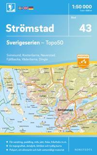 43 Stromstad Sverigeserien Topo50 Skala 1 50 000 Vagkartor