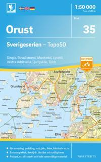 35 Orust Sverigeserien Topo50 : Skala 1:50 000