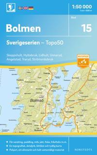 15 Bolmen Sverigeserien Topo50 : Skala 1:50 000