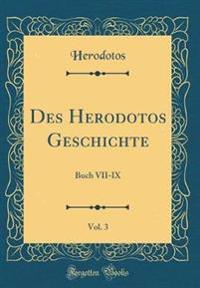 Des Herodotos Geschichte, Vol. 3