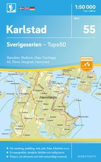 55 Karlstad Sverigeserien Topo50 : Skala 1:50 000