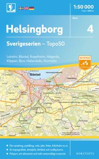 4 Helsingborg Sverigeserien Topo50 : Skala 1:50 000