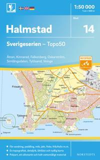 14 Halmstad Sverigeserien Topo50 : Skala 1:50 000