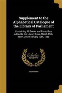 SUPPLEMENT TO THE ALPHABETICAL