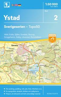 2 Ystad Sverigeserien Topo50 : Skala 1:50 000