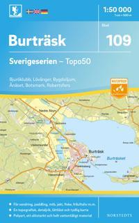 109 Burträsk Sverigeserien Topo50 : Skala 1:50 000