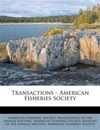 Transactions - American Fisheries Society