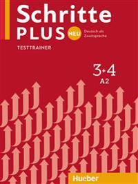 Schritte plus Neu 3+4. Testtrainer mit Audio-CD