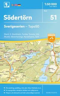 51 Södertörn Sverigeserien Topo50 : Skala 1:50 000