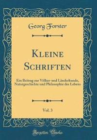 Kleine Schriften, Vol. 3