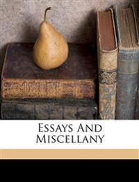 Essays and miscellany